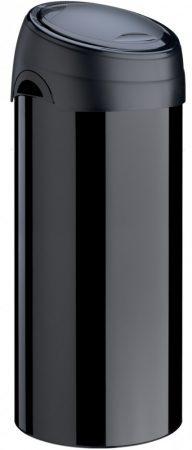 Meliconi SOFT-TOUCH fedelű de-lux acél szemetes 40l, fekete