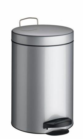 Meliconi PEDÁLOS szemetes szálcsiszolt acél, műanyag betéttel 20l