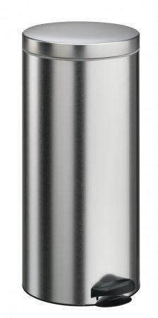 Meliconi PEDÁLOS szemetes szálcsiszolt acél, műanyag betéttel 30l