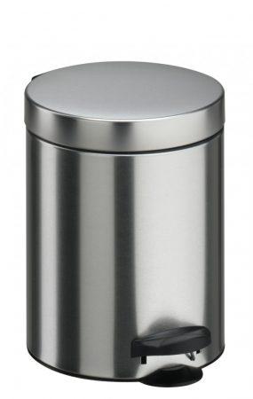 Meliconi PEDÁLOS szemetes szálcsiszolt acél, műanyag betéttel 5l