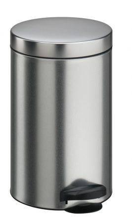 Meliconi PEDÁLOS szemetes szálcsiszolt acél, műanyag betéttel 14l