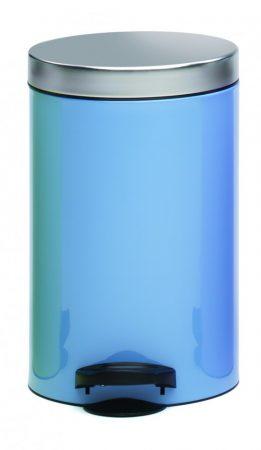 Meliconi DE-LUX pedálos szemetes, két színű, szálcsiszolt fedővel 14l, azúr kék
