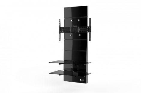 Meliconi Ghost Design 3000 Fekete, fali konzol rendszer