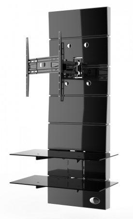 Meliconi Ghost Design 3000 Rotation Fekete, fali konzol rendszer